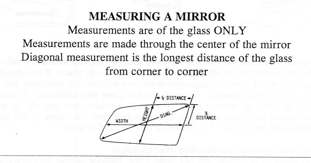 Sideview and rearview mirror car glass replacements click here to view how to measure your car mirror replacement glass fandeluxe Gallery